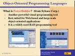 object oriented programming languages118