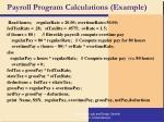 payroll program calculations example