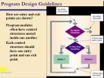 program design guidelines87