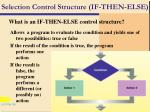 selection control structure if then else75