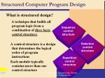 structured computer program design