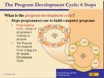 the program development cycle 6 steps