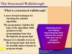 the structured walkthrough