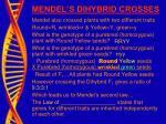 mendel s dihybrid crosses