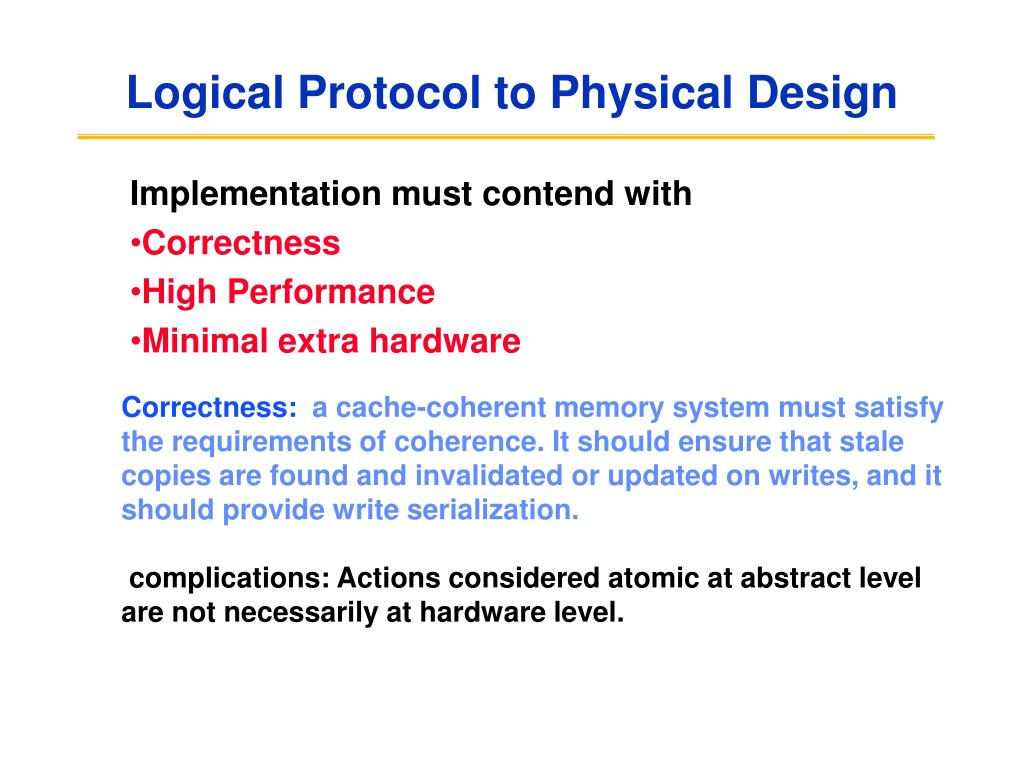 logical protocol to physical design l.