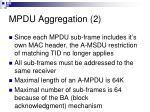 mpdu aggregation 2