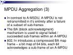 mpdu aggregation 3