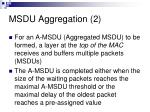 msdu aggregation 2