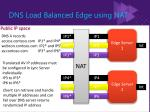 dns load balanced edge using nat