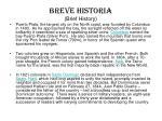 breve historia brief history