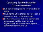 operating system detection countermeasures