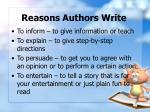 reasons authors write