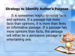 strategy to identify author s purpose