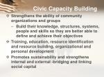 civic capacity building
