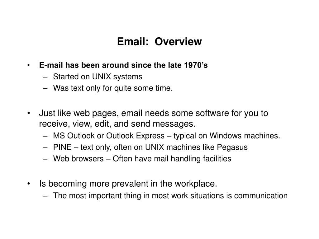 email overview l.