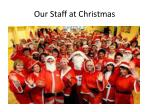 our staff at christmas