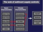the web of sediment supply controls