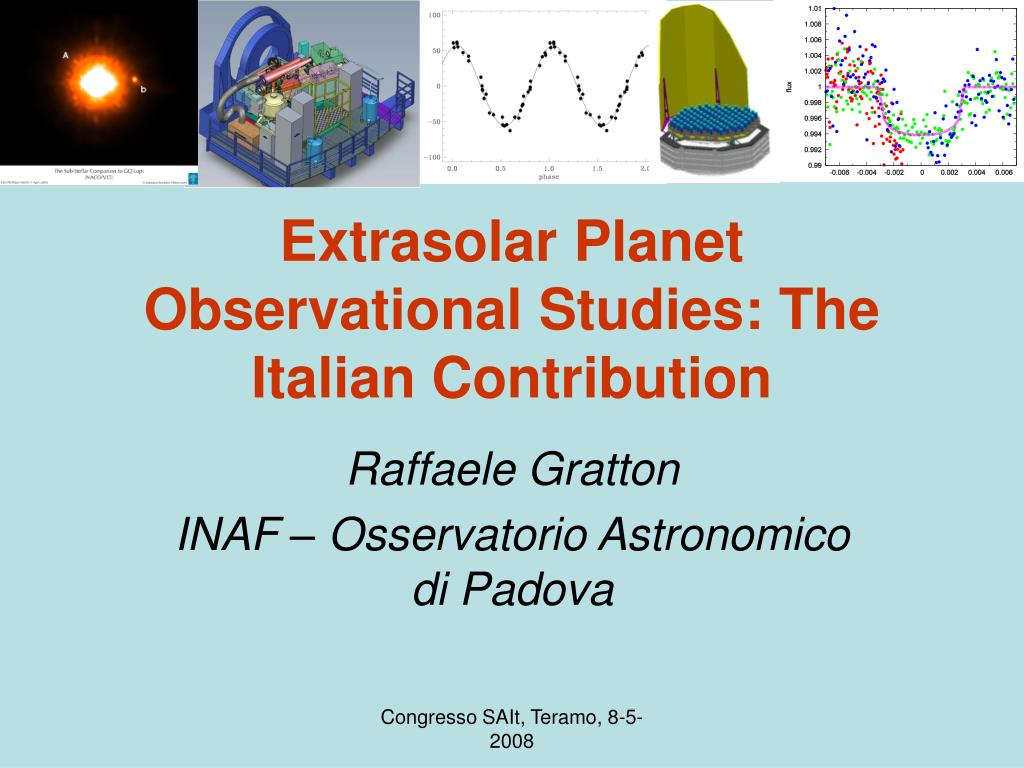 extrasolar planet observational studies the italian contribution l.