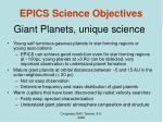 giant planets unique science