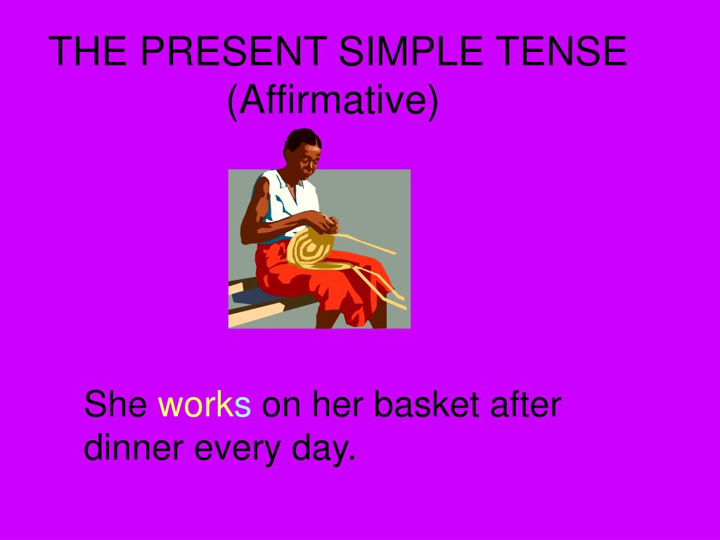 the present simple tense affirmative l.