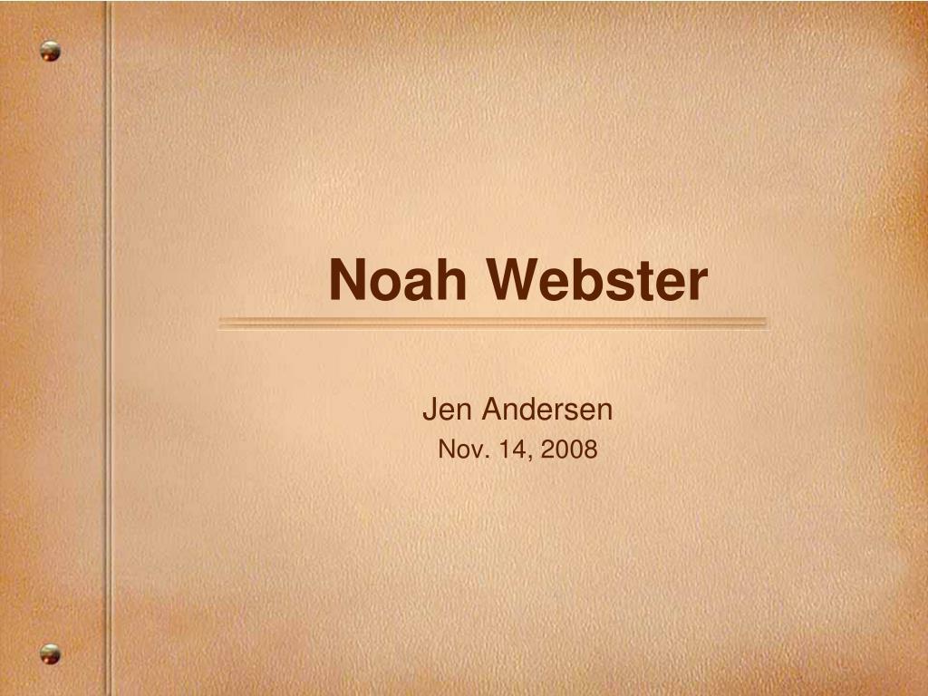 noah webster l.