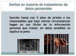 delitos en materia de tratamiento de datos personales