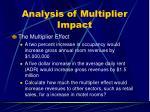 analysis of multiplier impact