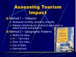 assessing tourism impact