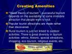 creating amenities
