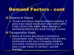 demand factors cont