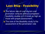 last step feasibility
