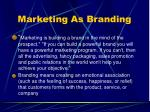 marketing as branding