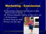 marketing conclusion