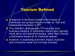 tourism defined
