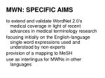 mwn specific aims