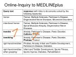 online inquiry to medlineplus64