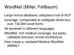 wordnet miller fellbaum