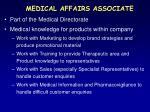 medical affairs associate