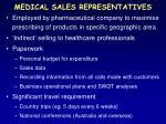 medical sales representatives