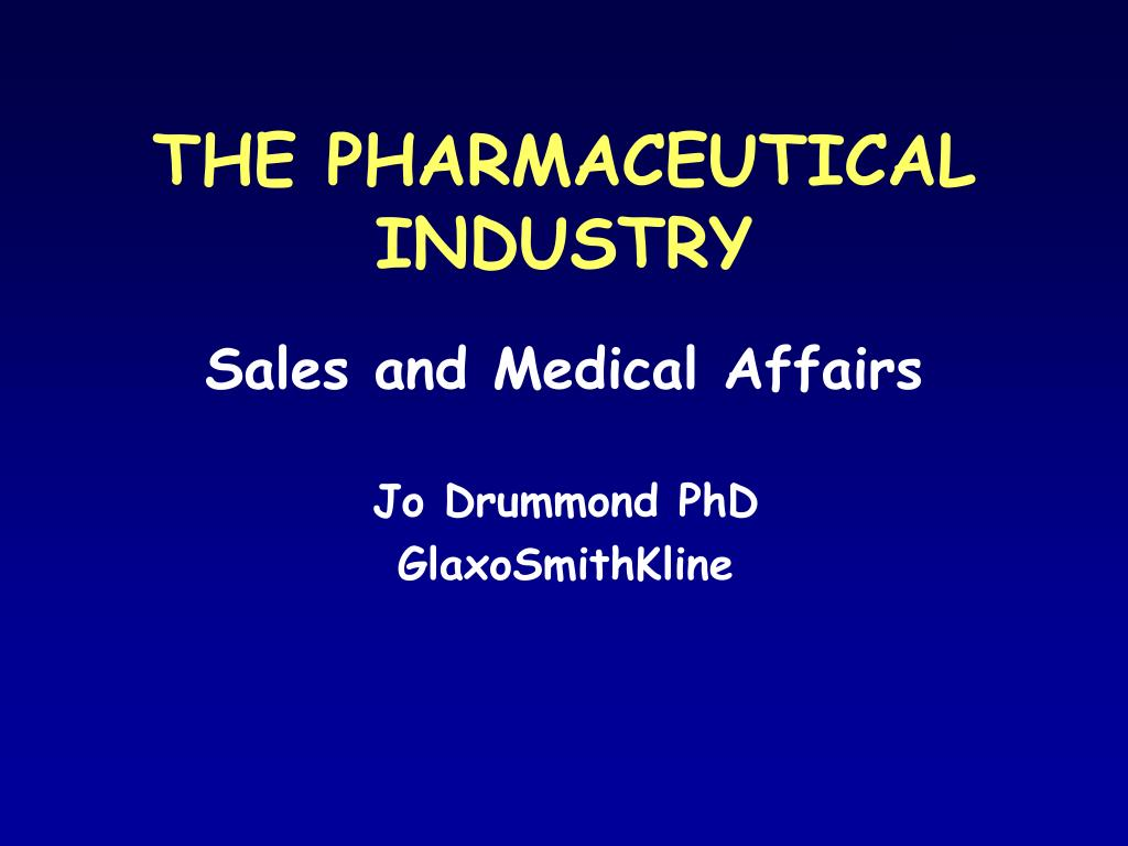 the pharmaceutical industry l.