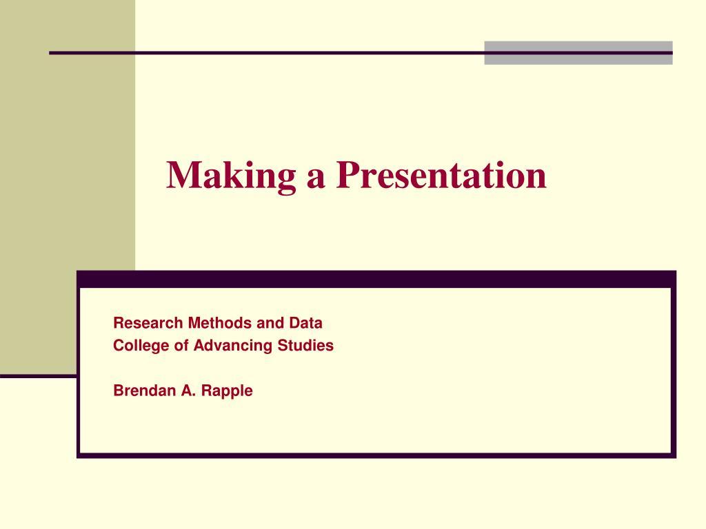 making a presentation l.