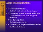 aims of socialization