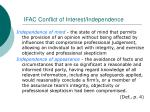 ifac conflict of interest independence18