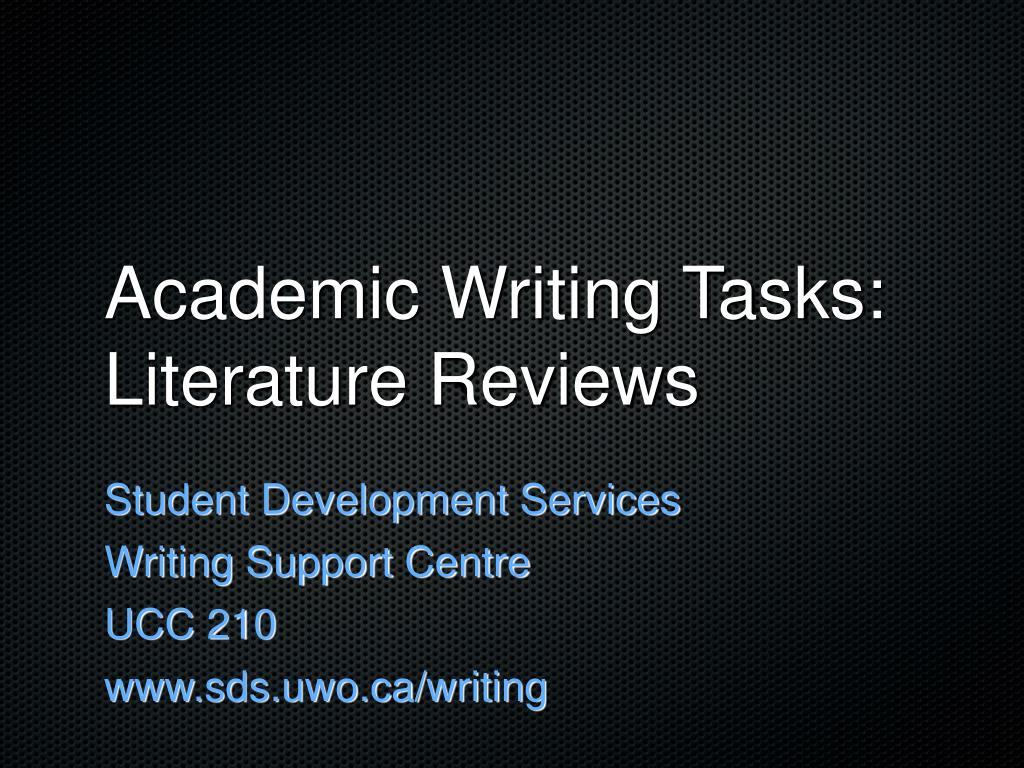 academic writing tasks literature reviews l.
