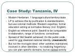 case study tanzania iv