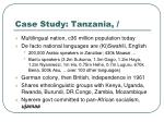 case study tanzania