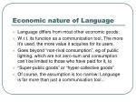 economic nature of language