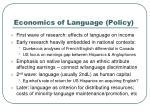economics of language policy