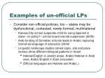 examples of un official lps