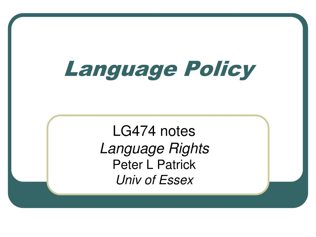 language policy l.